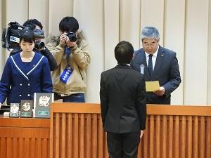 齋藤くん表彰 写真