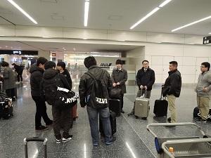 修学旅行1日目 長崎空港 写真②