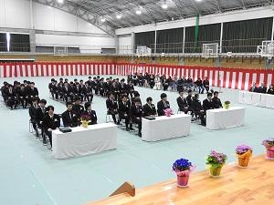 卒業式会場 写真